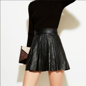 XS Leather Reformation Pebble Skirt